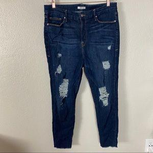 Good American Good Legs High Rise Skinny Jeans 18
